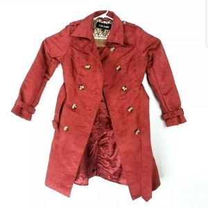 Steve Madden Womens Medium Peacoat Jacket Belted